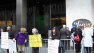Rally and Protest at Pfizer Headquarters