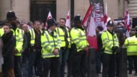 A rally by the British off shoot of the Germany based PEGIDA movement on Whitehall took place in central London Saturday