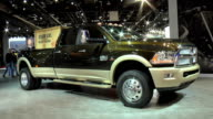 Ram fender badge ZOWS front quarter passenger side view of truck / MS wooden box in pickup bed ZOWS passenger side view of pickup bed / MS wooden box...
