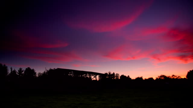 CRANE DOWN: Ranch Sunset
