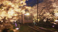 Randen Tram Lines In The Evening In Kyoto