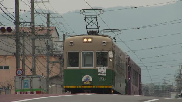 Randen Tram Lines On The Sanjo Street In Kyoto