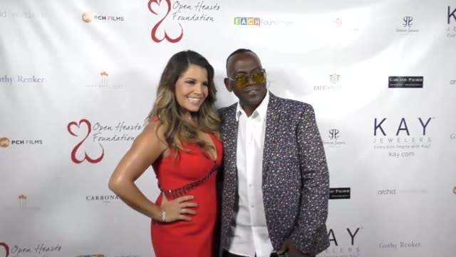 Randy Jackson and Mindy Burbano at The 2017 Open Hearts Gala at SLS Hotel on October 21 2017 in Beverly Hills California
