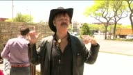 WPIX Randy Jones of the Village People singing after Rainbow flag raising ceremony at the beginning of Pride Month on June 1 20172017 would be the...