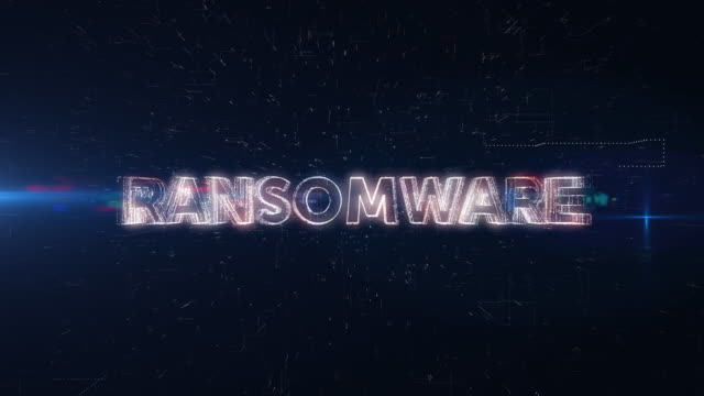 Ransomware word animation