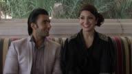 Ranveer Singh and Anushka Sharma on the atmosphere on set The Ladies vs Ricky Bahl Interview 8th Dubai International Film Festival 2011 UAE on...