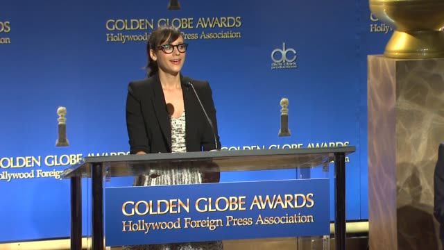 Rashida Jones announces The 18th Annual Screen Actors Guild Awards Nominations in West Hollywood