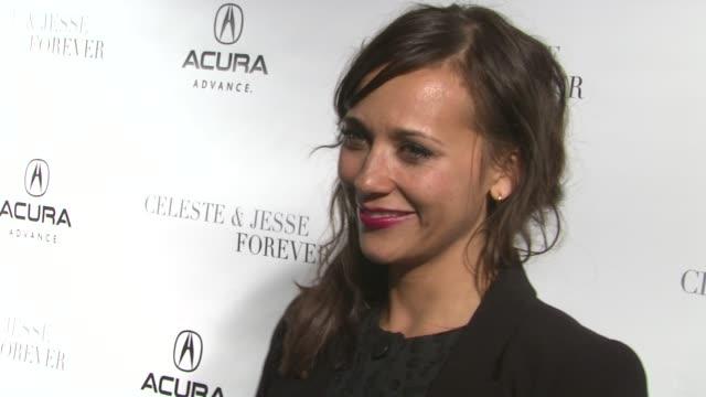 Rashida Jones at Acura Hosts Celeste Jesse Forever Cast Dinner At The Acura Studio on 1/21/12 in Park City UT