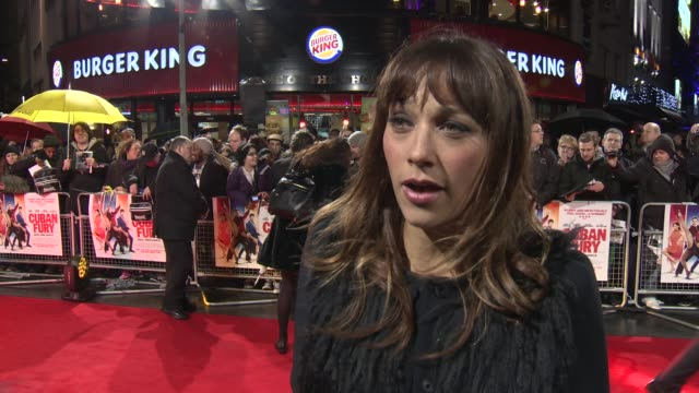 INTERVIEW Rashida Jones on acting in a British film and the magic that is working with ~Nick Frost at 'Cuban Fury' UK film premiere at Vue Leicester...