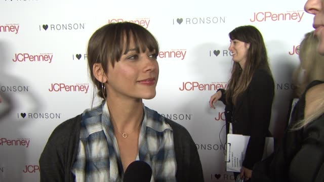 Rashida Jones on attending tonight's event and on Charlotte Ronson and JCPenny being a good partnership at the Charlotte Ronson Dinner at Los Angeles...