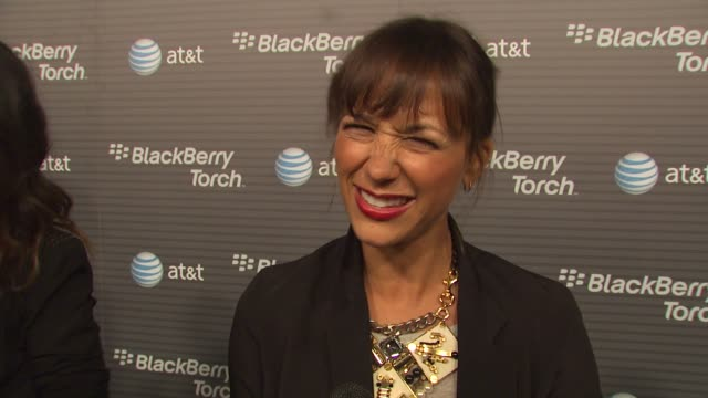 Rashida Jones on how long she's been a Blackberry fan her favorite thing about the new Blackberry Torch why she wanted to come out and be a part of...
