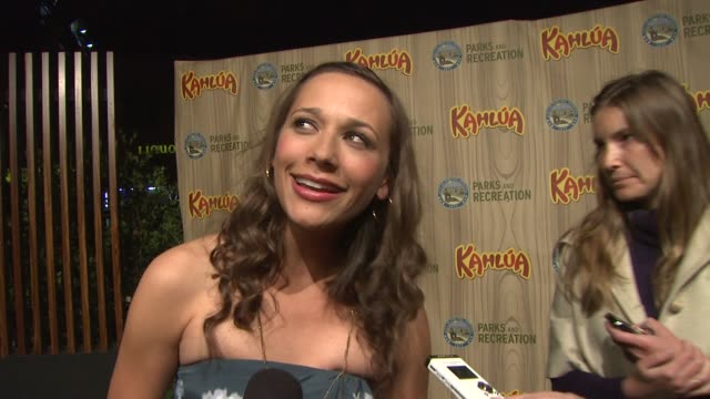 Rashida Jones on if she is nervous for the show's premiere working with Amy Poehler the onset vibe working with the producers of The Office at the...
