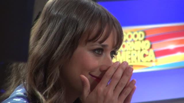 Rashida Jones on the Good Morning America set in New York 08/01/12