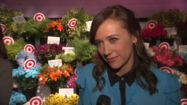 INTERVIEW Rashida Jones shares why she wanted to be at the event She is looking forward to the florals form the event which make her wish it was...
