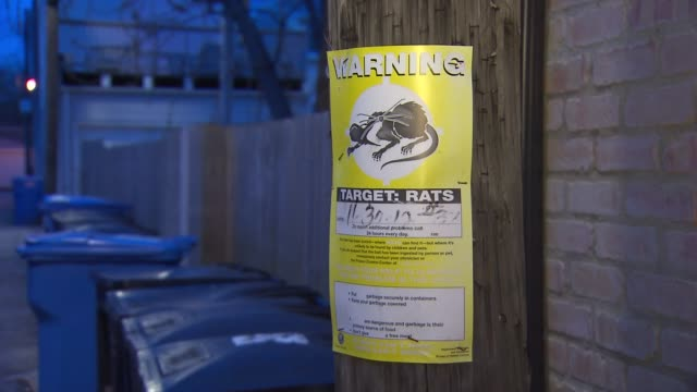 Rat poison warning sign in Chicago on April 24 2015