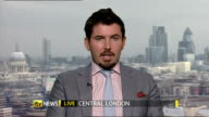 CPI rate of inflation falls to 22 per cent ENGLAND London GIR INT Jeremy Cook LIVE 2WAY interview from Central London SOT