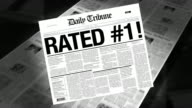 Rated #1 - Newspaper Headline (Reveal + Loops)