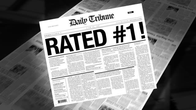 Rated #1 - Newspaper Headline (Reveal + Loops)