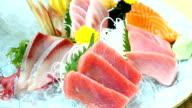 Raw and fresh sashimi fish meat