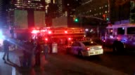 Raw footage of 3 World Trade Center where a crane crashed into the 12th floor Fire department and emergency crews on the scene There are no reports...