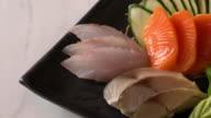 Raw fresh sashimi
