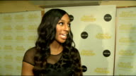 Rays of Sunshine charity concert Alexandra Burke talking to press backstage and interview SOT / Alexandra Burke backstage photocall