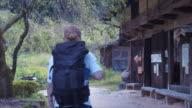 Reaching Japanese village (slow motion)