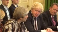 Reaction to Theresa May comments on leading the Conservative Party into the next general election LIB 1262017 Downing Street Number 10 Various of May...