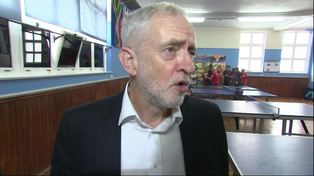 Reaction to Theresa May's speech on Brexit Brighton Table Tennis Club INT Jeremy Corbyn MP interview SOT We're going to guarantee that we have trade...