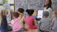 Reading in Preschool with Friends