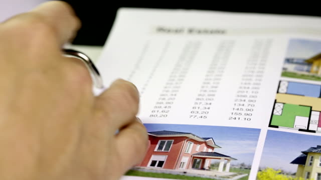 Real Estate (Immobilien) - folder with data
