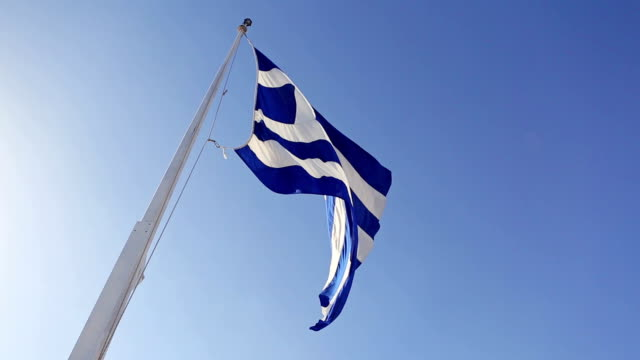Real Greece Flag and Sky Nobody