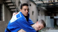 Real judo training in slow motion