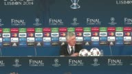 Real Madrid coach Carlo Ancelotti thanks his players after masterminding a 10th Champions League crown for the Spanish side thanks to a 41 win over...