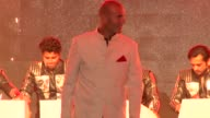 Real Madrid football coach Zinedine Zidane attends a fashion show in Mumbai India