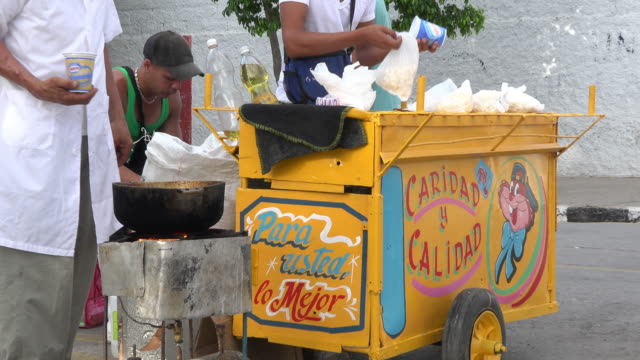 Real people prepare a popcorn stand during the daytime They work selfemployed at the popular festivities After economic changes Cuban citizens can...