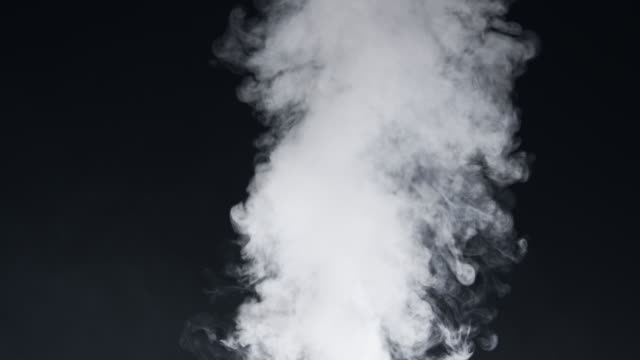 SLO MO Real smoke over black background