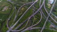 Real Time Aerial view of Shanghai Highway