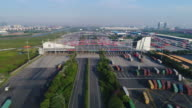 Real time Aerial view of Yangshan Free Trade Port Area