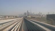 Real Time Metro Riding Through Downtown Dubai