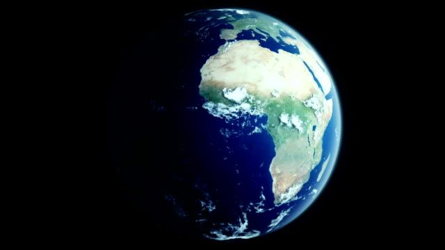 Realistische rotierenden Erde mit beweglichen Wolken-Schleife