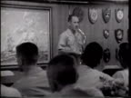 BRIEFING VS Rear Admiral Henry Miller SOT speaking to Air Wing 9 pilots air crewmen in briefing room historic importance of first nuclearpowered...