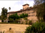 Rear of derelict Ambassador Hotel and dry lawn Hollywood