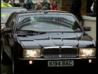 Rear seat belts campaign/Princess of Wales' accident ENGLAND London Stockwell Refugee Support Centre Royal limo towards as car behind bumps into its...