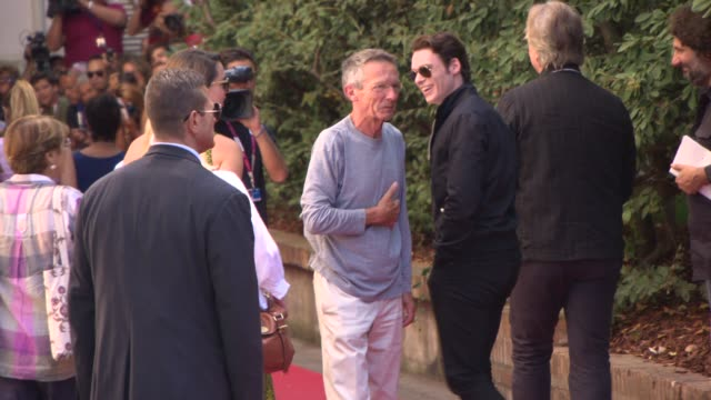 Rebecca Hall Alan Rickman and Patrice Leconte at Celebrity Sightings Venice Film Festival Day 08 on September 04 2013 in Venice Italy