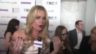 Rebecca Romijn talks about how excited she is to present tonight's award show what woman inspires her the most why the first National Women's History...