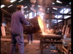 Recession INTKettering CS Molten metal pouring from vat TX 14391 MS Men pouring metal ITN LMS Ditto