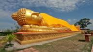 Ruhender buddha-statue