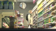 Reconstruction Exterior shots actor of Joanna Yeates in Tesco Express acting out last known movements Police have reconstructed the final known...