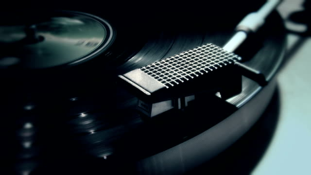record player close up